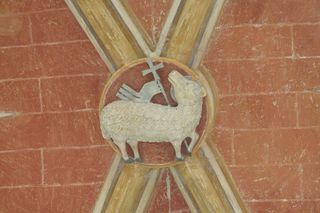 Agnus Dei - Agnus Dei, Lamm Gottes, Schlussstein, Gewölbe, Christentum, Symbol, Osterlamm, Auferstehung Christi, Liturgie