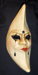 Venezianische Maske - Maske, venezianisch, Venedig, Karneval, verkleiden, Harlekin, traurig
