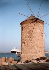 Windmühle - Windmühle, Griechenland, Wind, Mühle, drehen, Korn, Kornmühle, Windkraft