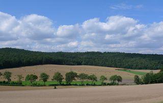 Landschaft  #1 - Landschaft, Impressionen, Kellerwald, Wolken, Herbst, Kornfeld