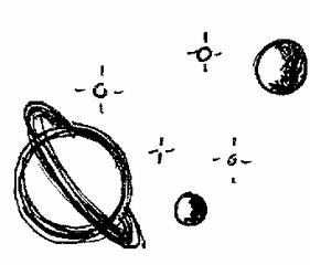 Clipart Weltall - Weltraum, Universum, All, Weltall, Stern, Planet, Mond, Illustration, Himmelskörper