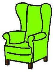 Sessel - Sessel, Stuhl, Sitz, Lehne, Anlaut S, Sitzmöbel, Armlehne, Ohrensessel, Lehnsessel, Polstermöbel, Sitzgelegenheit, grün