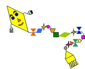 Drachen - Drachen, geometrische Formen, Kreis, Dreieck, Quadrat, Viereck, Herbst, Mathematik, Wörter mit ch