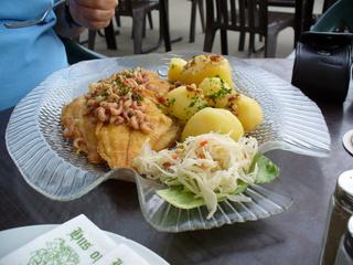 Norddeutsche Spezialität - Nordsee, Essen, Kultur, Fisch, Meeresfrüchte, Kartoffeln