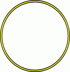 Reifen - Reifen, gelb, Sportgerät, Sport, Sportgymnastik, turnen, rollen, Kreis, Umfang, Fläche, Radius, Durchmesser, Mathematik