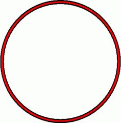 Reifen - Reifen, rot, Sportgerät, Sport, Sportgymnastik, turnen, rollen, Kreis, Umfang, Fläche, Radius, Durchmesser, Mathematik