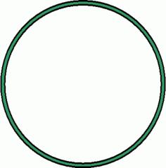 Reifen - Reifen, grün, Sportgerät, Sport, Sportgymnastik, turnen, rollen, Kreis, Umfang, Fläche, Radius, Durchmesser, Mathematik