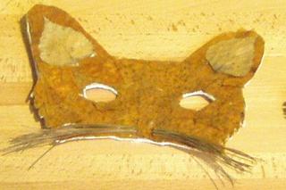 Maske - Maske, Waldmaterial, Naturmaterial, Blätter, Rinde