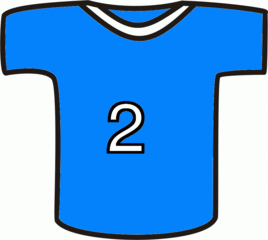 Shirt blau - Sport, Shirt, blau, Nummer, zwei, Mannschaft, Markierung, Trikot, Fußball, T-Shirt