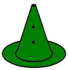 Loch_Pylon_grün - grün, Pylon mit Loch, Markierungskegel, Hütchen