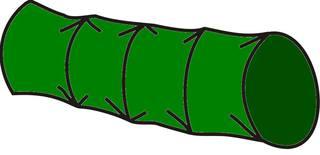 Kriechtunnel#3 - Kriechtunnel, grün, Sport, Sportgerät, Hindernis, kriechen, turnen