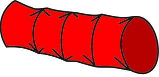 Kriechtunnel#4 - Kriechtunnel, rot, Sport, Sportgerät, Hindernis, kriechen, turnen