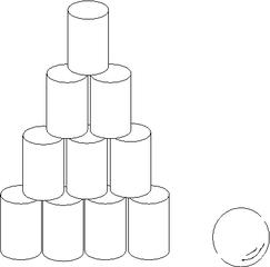 Dosenwerfen#0 - Dosen, Sport, werfen, Sportgeräte, Spiel, spielen, Zylinder, Volumen, Oberfläche, Körper, Mathematik