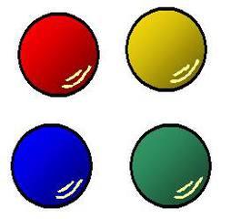 Gymnastikbälle - Gymnastikbälle, rot, grün, blau, gelb, Sport, werfen, spielen, rollen, Sportgerät, rund, Ball, Gymnastik, Kugel, Volumen, Körper, Mathematik