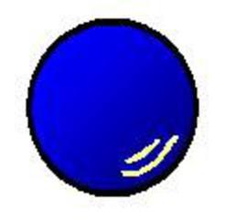 Gymnastikball blau - Gymnastikball, blau, Sport, werfen, spielen, rollen, Sportgerät, rund, Ball, Gymnastik, Kugel, Volumen, Körper, Mathematik