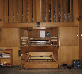 Orgel Spieltisch #2 - Orgel, Kirchenorgel, Tastatur, Manual, Register, Schwellwerk, Kirche